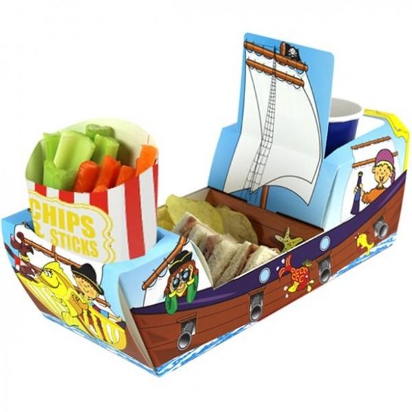 Kombi-Snackbox Piratenschiff 26cm lang