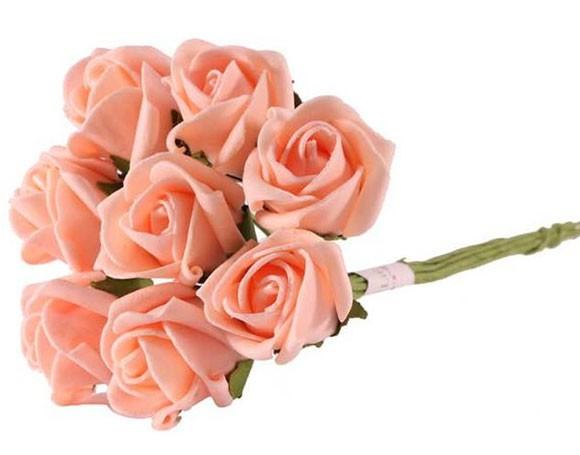 8 mazzi di rose rosa pesca