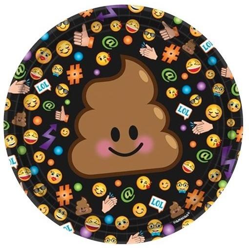 8 Emoji Familly Pappteller 18cm