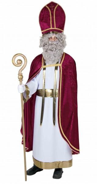 Weißes Bischofskleid mit Schärpe