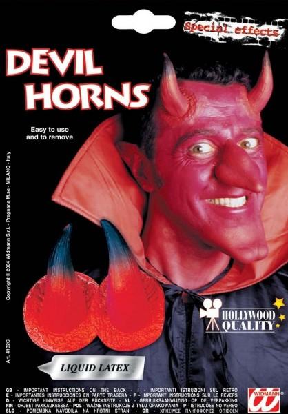 Teuflische Teufelshörner zum Ankleben