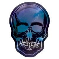 8 Shimmer Skull Halloween Teller 25cm