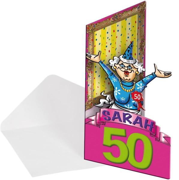 8 Glückwunsch Sarah Einladungskarten