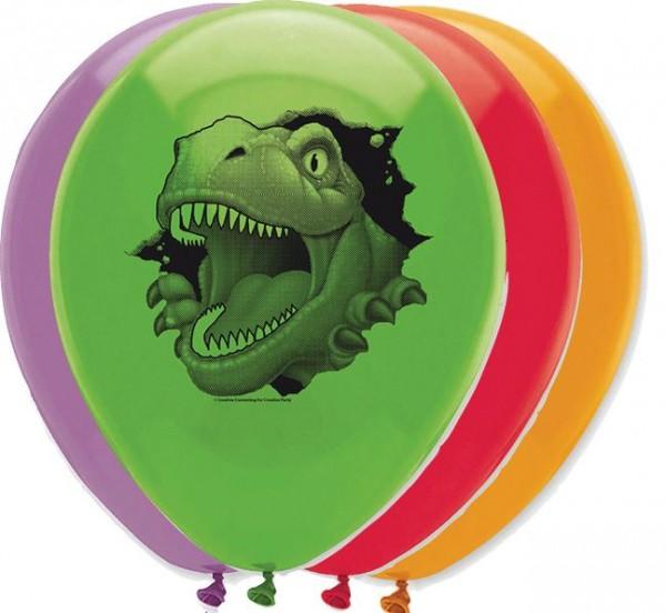 6 ballons de dinosaures des cavernes 30cm