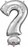 Folienballon Symbol Fragezeichen silber 91cm