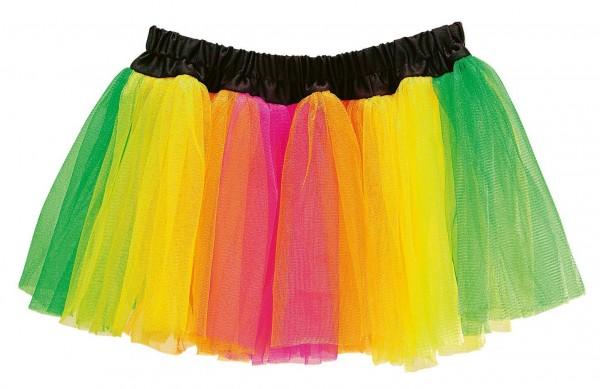 Kolorowa neonowa spódniczka tutu