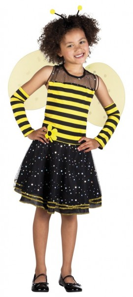 Kleine Honigbiene Mädchenkostüm