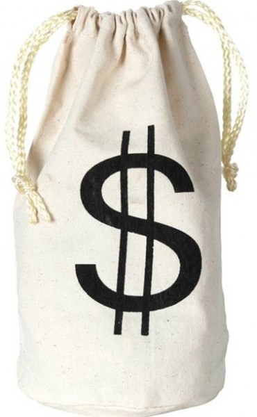 Bankräuber Dollar Beutel 22cm
