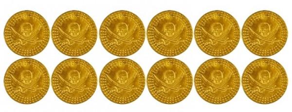 12 pièces d'or trésor pirate