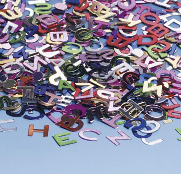Coloridas letras ABC dispersión decoración 15g