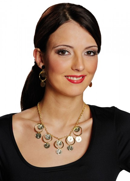 Goldenes Schmuck Set