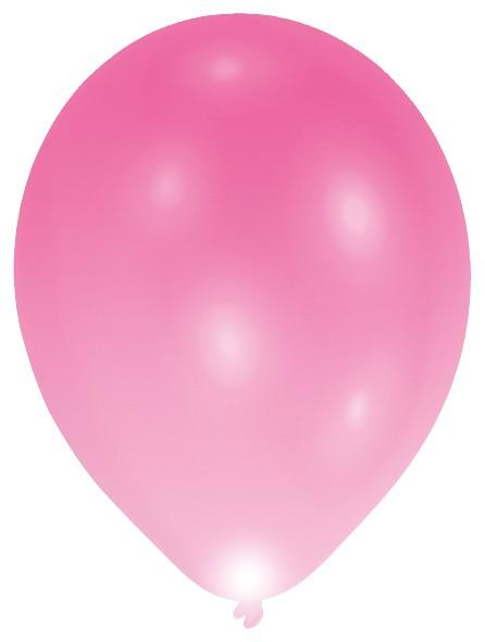 5 ballons LED, durée de combustion de 24h