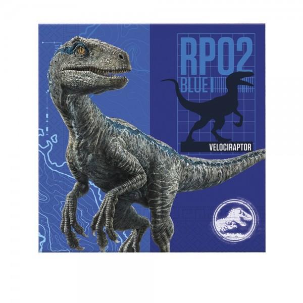 20 Jurassic World Servietten blau 33cm