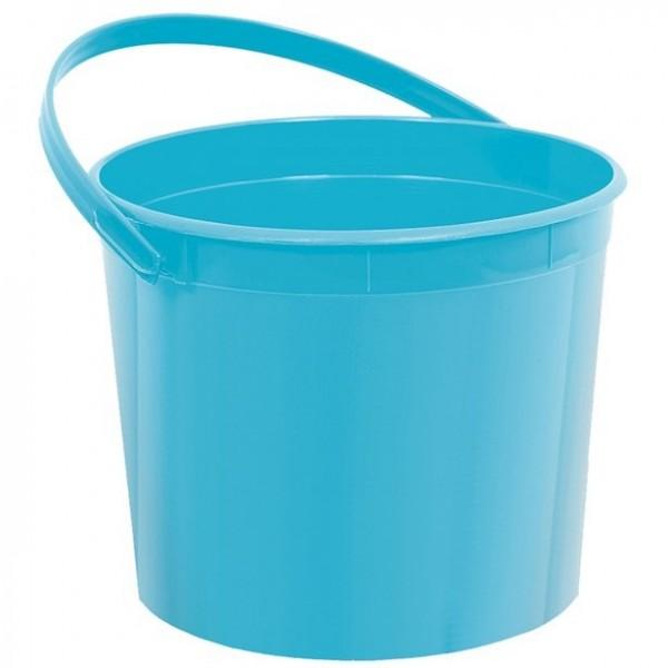 Mini cubo de plástico para regalos turquesa 15cm