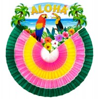 Aloha Papierfächer 46cm