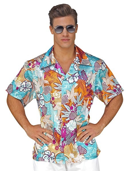 Camicia da uomo turchese Hawaii