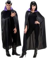Halloween Umhang mit lila Kragen 136cm