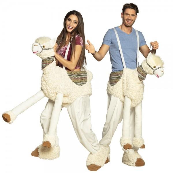Lama parade piggyback kostuum