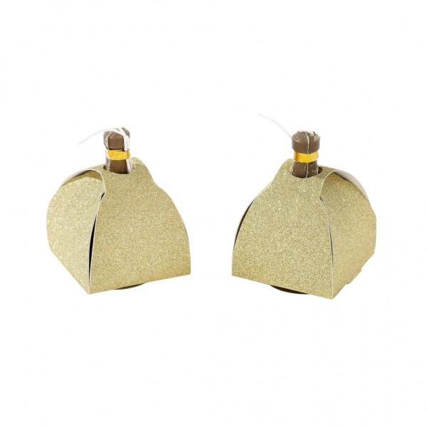 8 popper coriandoli glitter oro