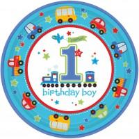 8 First Birthday Runde Pappteller