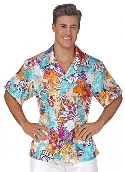 Turquoise Hawaii shirt for men