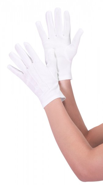 Weiße unisex Handschuhe