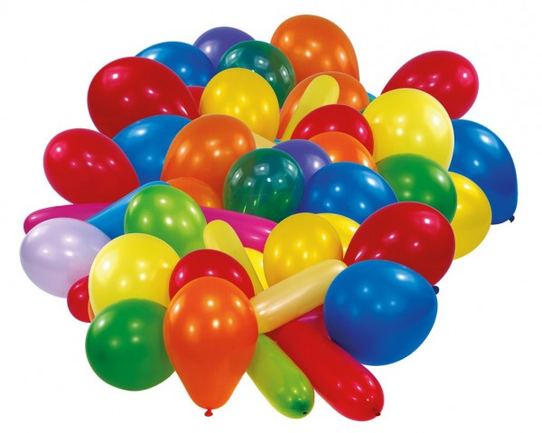 30 ballons colorés