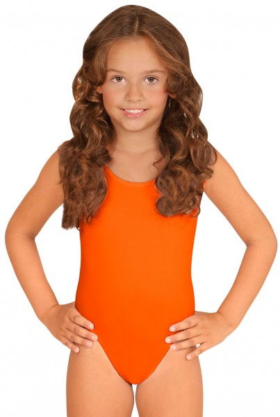 Body enfant sans manches orange