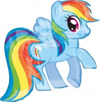 Folienballon My Little Pony Rainbow Dash