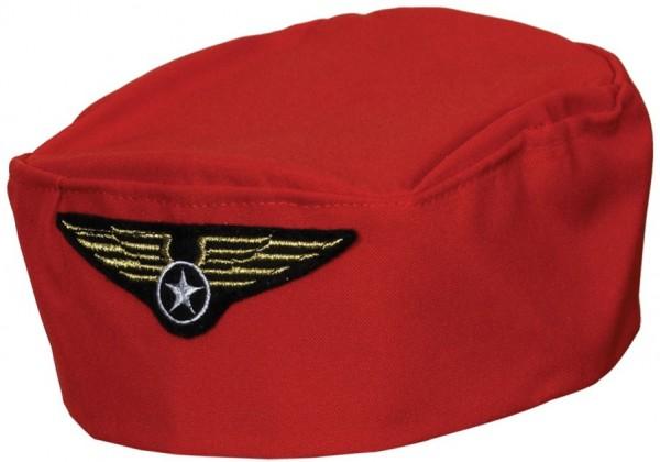 Roter Flugbegleiterinnen Hut