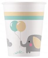 8 Baby Elefant Eco Becher 200ml
