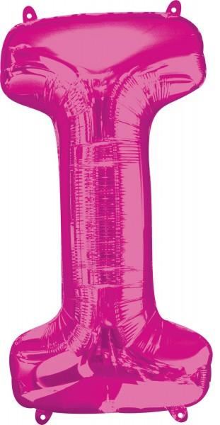 Foil balloon letter I pink XL 81cm