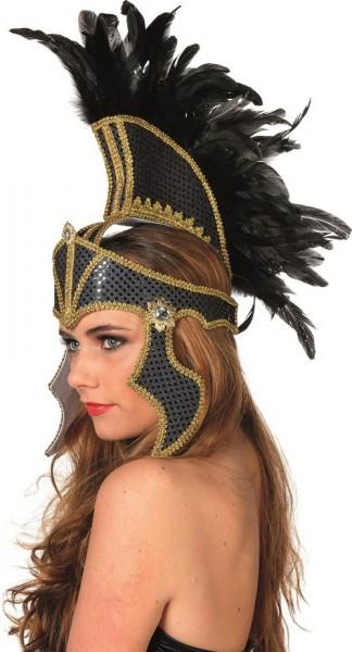 Antiker Römerin Helm Mit Federschmuck