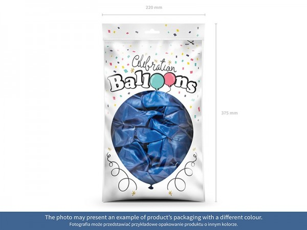100 Celebration Ballons schwarz 29cm