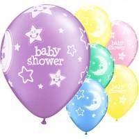 6 Babyparty Nachthimmel Luftballons 28cm