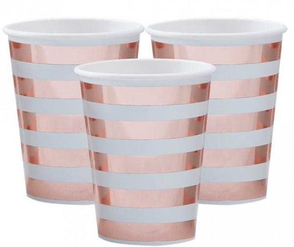 8 Welcome world paper cup in oro rosa 255ml