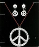 Peace Zeichen Schmuckset