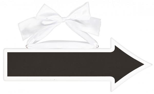 Weißes Pfeiloptik Tafelschild