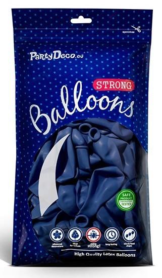 10 ballons étoiles bleu roi 30cm