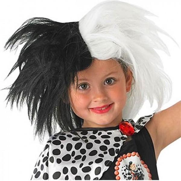 Perruque enfant Cruella