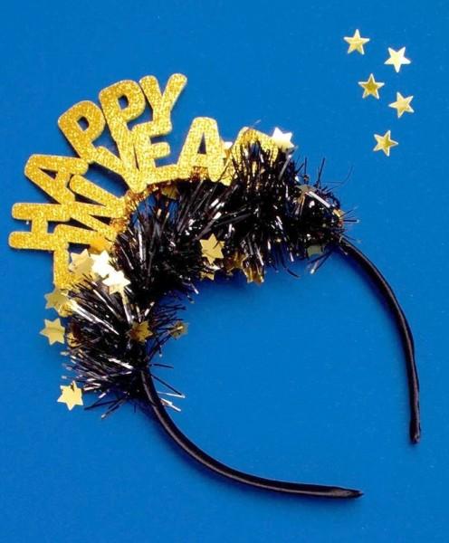 New Year Queen Haarreifen gold
