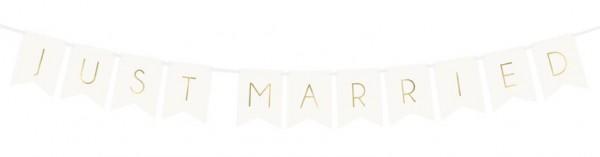 DIY guirlande fraîchement mariée blanche 1.55m