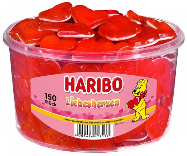 150 Rote Haribo Herzen 1200g