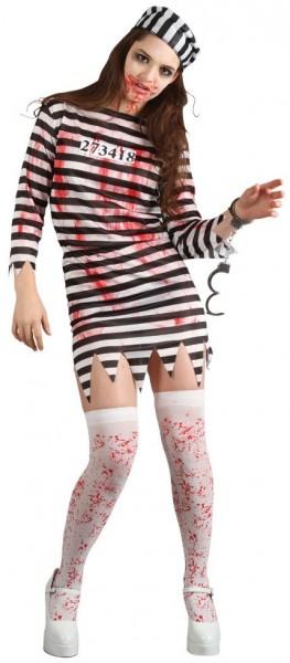 Blutiges Sträflings-Kostüm Für Damen