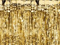 Gold metallic Lametta Vorhang 90cm x 2,5m
