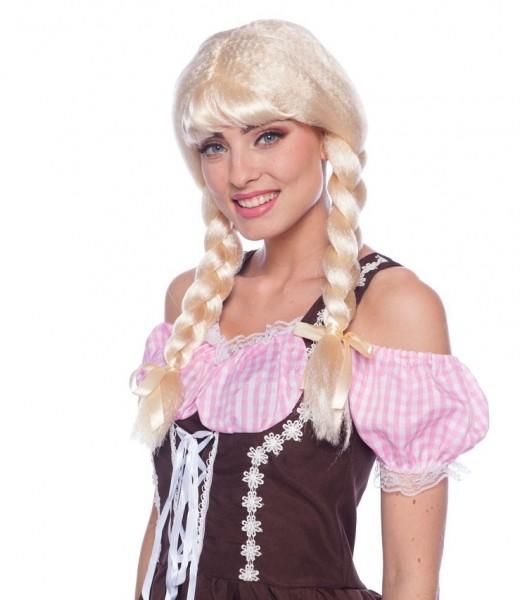 Blonde vlecht pruik Vroni