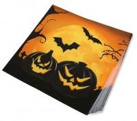 20 Halloween Servietten Gruselkürbis 17x17cm