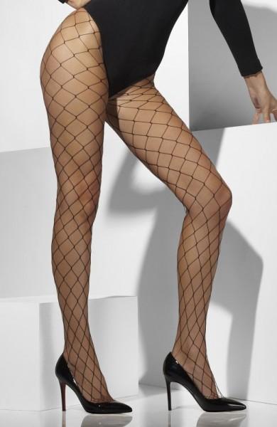 Sexy calze a rete grossa maglia nera