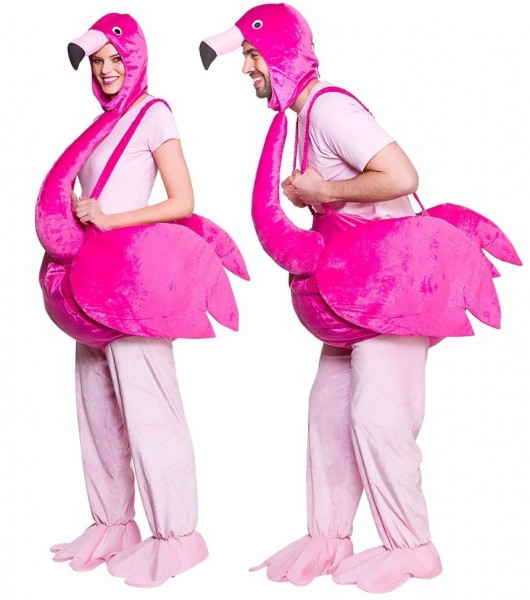 Witziges Flamingo Kostüm für Erwachsene