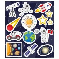 1 Bogen Weltraum Galaxie Aufkleber